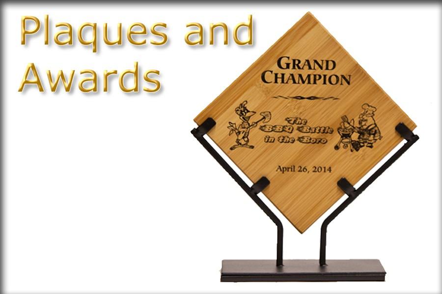 Wood and Steel Custom Engraved Awards