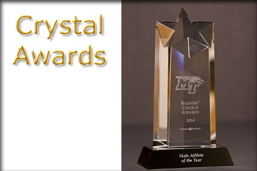 Optic Crystal Star Trophies