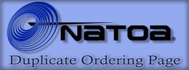 NATOA Duplicate Ordering Page